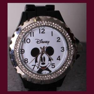 Mickey Mouse w/a Sparkle Enamel Bezel Watch